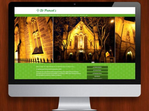 St Patrick's Church WordPress Website Design and Development