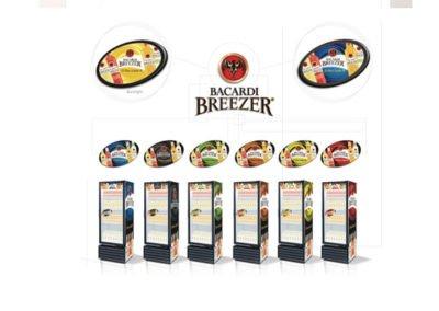 Bacardi Breezer Fridge Signage Design
