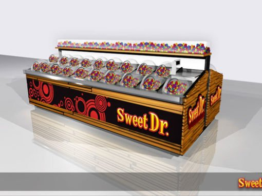 Sweet Doctor Simple POS Stand Design
