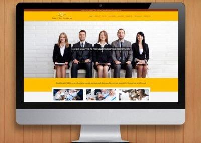 Luck You Found Me Recruitment WordPress Website Design and Development