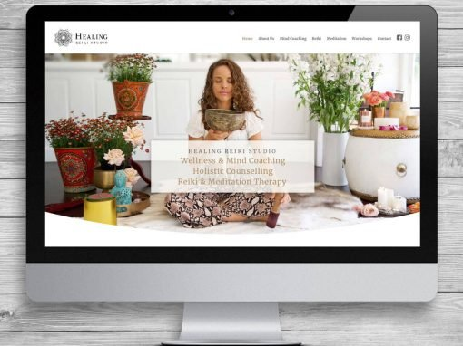 Healing Reiki Studio WordPress Website Design and Development